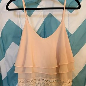 Tobi Light Pink Crop Tank Top